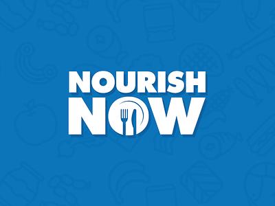 Nourish Now Logo rebranding branding food logo blue white