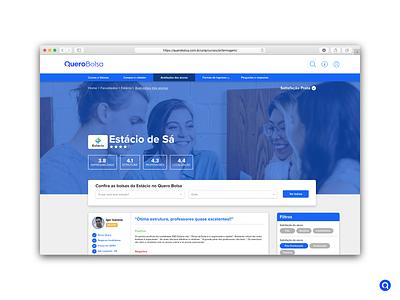 Quero Educação redesign concept branding brazil web design canadian canada brasil design brand ux concept web information architecture ui