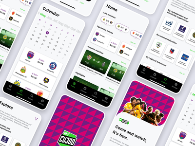 Mycujoo redesign concept canadian canada brazil brasil uiboost mobile design mobile app mobile ui application app design concept ux information architecture ui