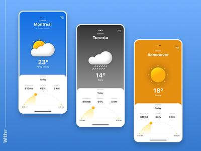 Wthr App concept montreal toronto vancouver canada forecast weather mobile information architecture app brazil concept ux ui
