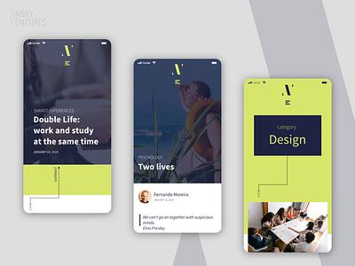 Angry Ventures blog mobile version canadian canada brazil brasil ios brand information architecture concept branding application app web ux design ui mobile