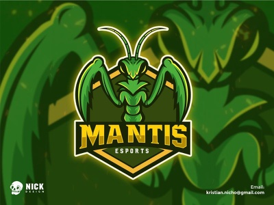 Mantis Esports sport design twitch chatacter mascot logos best logo gamer logo streamer mantis esports animal character design esport sport gaming logo esport logo illustration branding gaming design mascot logo