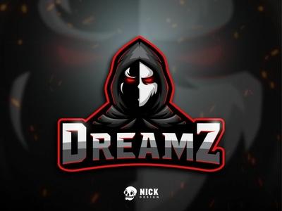 DreamZ Esport Logo fortnite gamers magician robe cloak sport branding sports esports character design gaming streamer twitch sport logo gaming logo esport logo branding illustration mascot design logo