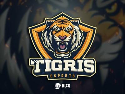 Tigris Esports Logo tiger head animals esports team angry tiger tiger sport branding esports sports twitch sport logo streamer character design gaming logo esport logo gaming design illustration branding mascot logo
