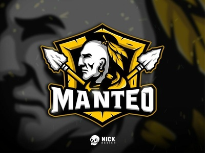 Manteo Esport Team Logo esport team manteo indian native american gamers sport branding esports sports twitch sport logo streamer character design gaming logo esport logo gaming branding illustration design mascot logo
