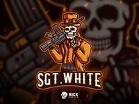 SGT WHITE Esport Logo