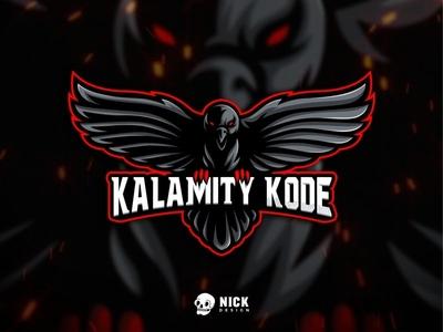 Kalamity Kode Logo gamers sport branding bird crow vector animals sports esports sport logo gaming branding twitch streamer character design esport logo gaming logo illustration mascot design logo