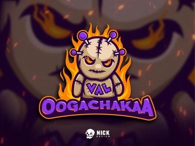 Voodoo Logo cartoon fire doll voodoo games sport branding gaming illustration branding sports esports streamer twitch sport logo character design esport logo gaming logo design mascot logo