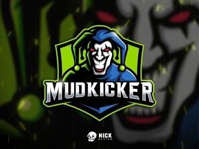 Mudkicker Logo games logo gaming mascot logo logo gaming scream mascot logos sport design esports team sport branding joker jester mascot character streamer twitch character design sport logo esports logo illustration mascot design logo