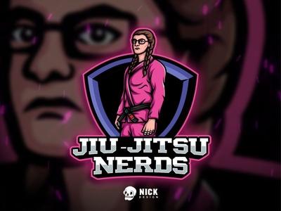 Jiu-Jitsu Nerds Logo mascot character sports sport branding esports mascot streamer twitch kickboxing karate jiu jitsu mixed martial arts sport design logo gaming esports logos esports logo character design branding illustration design mascot logo