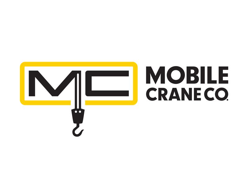 Mobile Crane Co. logo design branding logo