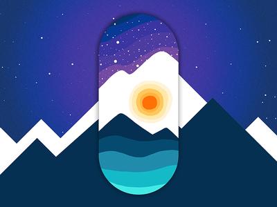 Bluebird Night apparel design illustration