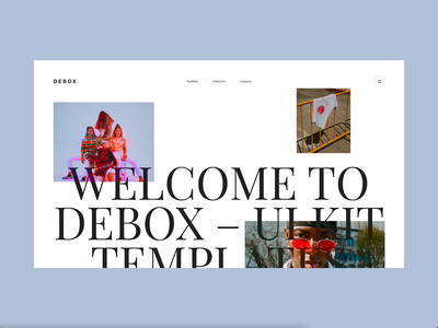 Debox – modern template minimalism modern animation website creative ui