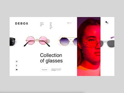 Debox – online store of glasses shop modern web webdesign animation ui creative design glasses
