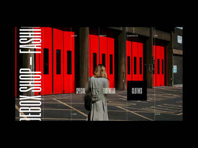 Debox – fashion shop clothes wear moda fashion ui web modern animation website design creative