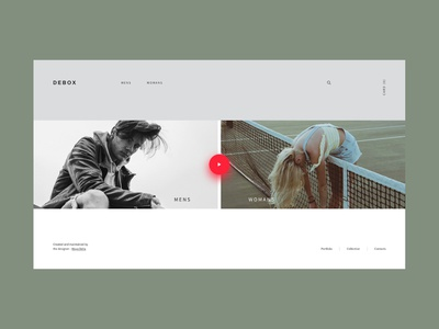 Debox – fashion online store shopping store manga womans clothes shop ui branding modern website design creative