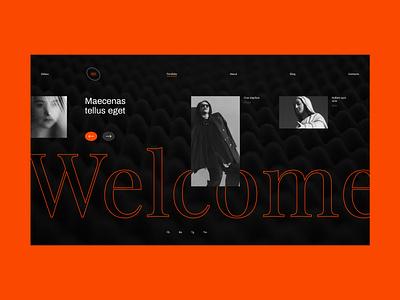 Debox – digital agency black agency website agency orange future website ui web modern design creative