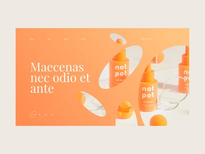 Debox – cosmetics store product debox orange wow agency web branding modern website ui design creative