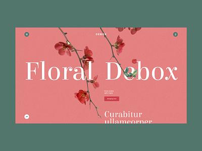 Debox – floral template adobexd font modern floral ecommerce shop flower agency web ui website design creative