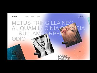 Debox – creative agence template future typogaphy ui portfolio gallery sliders blur agency web website modern design creative