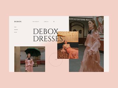Debox – clothes boutique debox dress clothes fashion agency web website modern ui design creative