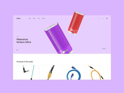 Debox – music shop music ecommerce store shop web website modern ui design creative