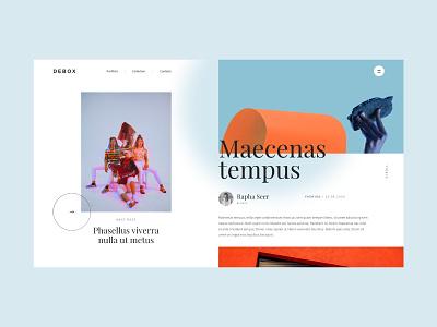 Debox – color content block content colors journal magazine web website modern ui design creative