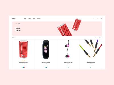 Debox – music store product catalog product catalog ux store ecommerce web webdesign website modern ui design creative