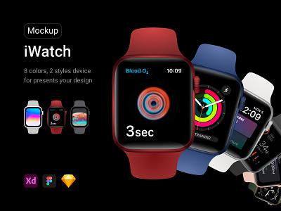 iWatch Mockup ios watch smartwatch aplication app apple watch apple creative branding vector mockup iwatch