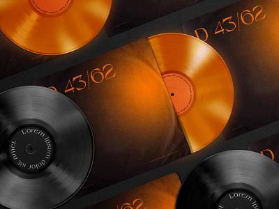 Vinyl Record & Cover Mockup music 80s branding agency identity modern design creative vinyl record mockup cover record vinyl