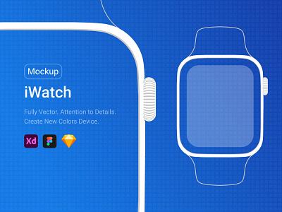 iWatch Line Mockup illustration apple adobexd identity agency branding website modern design creative