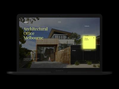 Solab – Architectural Bureau web template adobexd websites webdesign bureau architecture mockup identity agency branding web ui website modern design creative