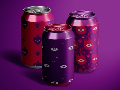 Can Mockup aluminum 3d drinks metal can mockup identity agency branding modern design creative