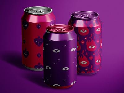 Can Mockup aluminum 3d drinks metal can mockup identity agency branding modern design creative