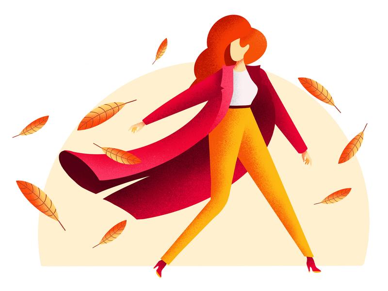 Girl-autumn applepencil ipadproart procreate creative vector girl drawingart autumn design illustration