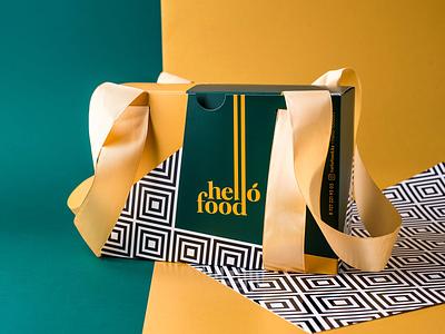 Packing for Hello-Food.kz detox identity branding box packing