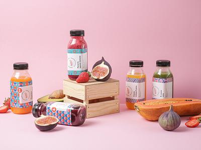 Branding for Formpit bottle juice smoothies identity packaging branding