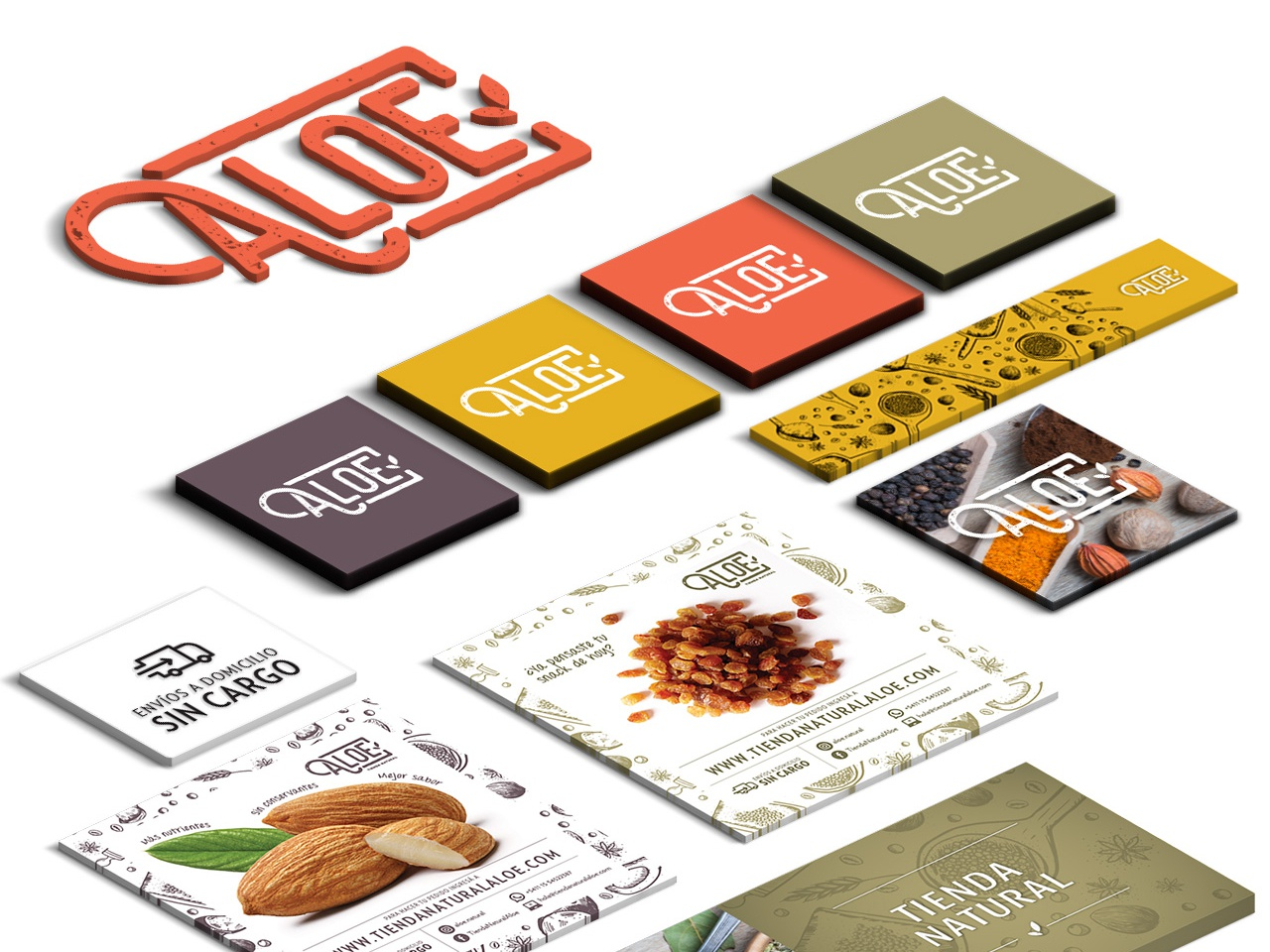 Aloe website web branding logo vector typography illustration design