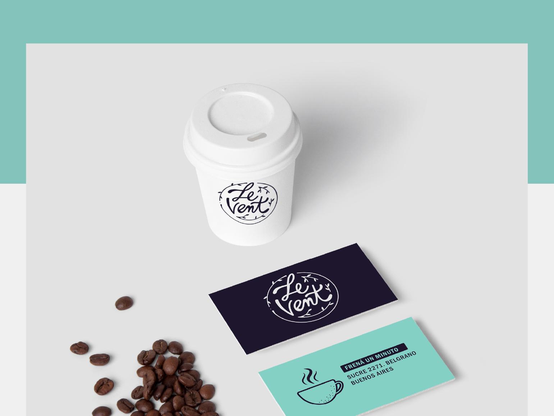 LeVent identity coffee food logo branding typography design