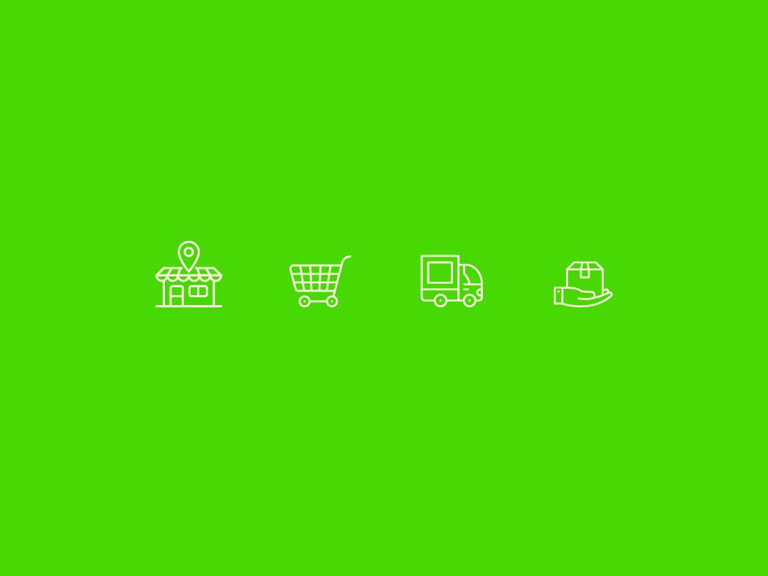Íconos Comex color icon shop food vector branding design