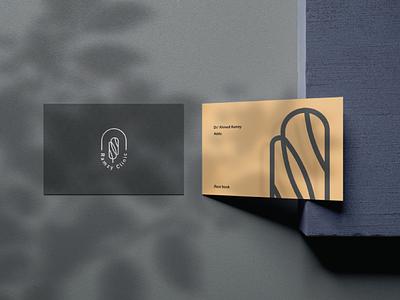 beauty clinic geometric illustration icon minimal logo