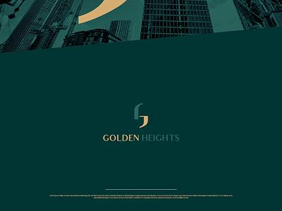 Golden Heights icon branding ambigram logo