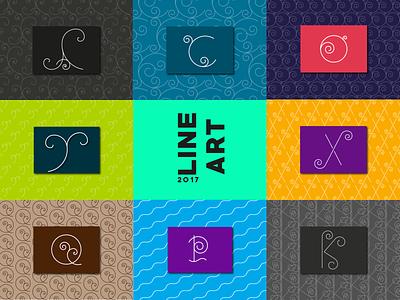 line art typography line icon