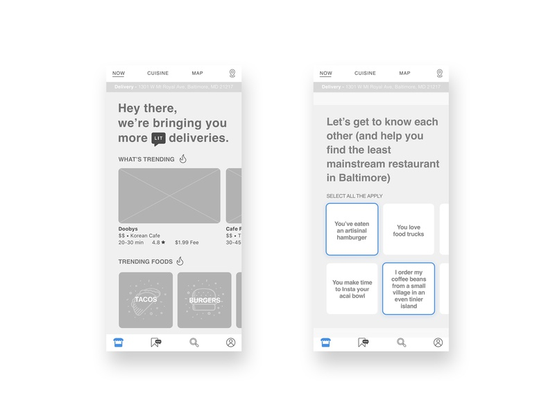 HipsterEats UX: Home Screen Highlights hipster sketch wireframes ui ux