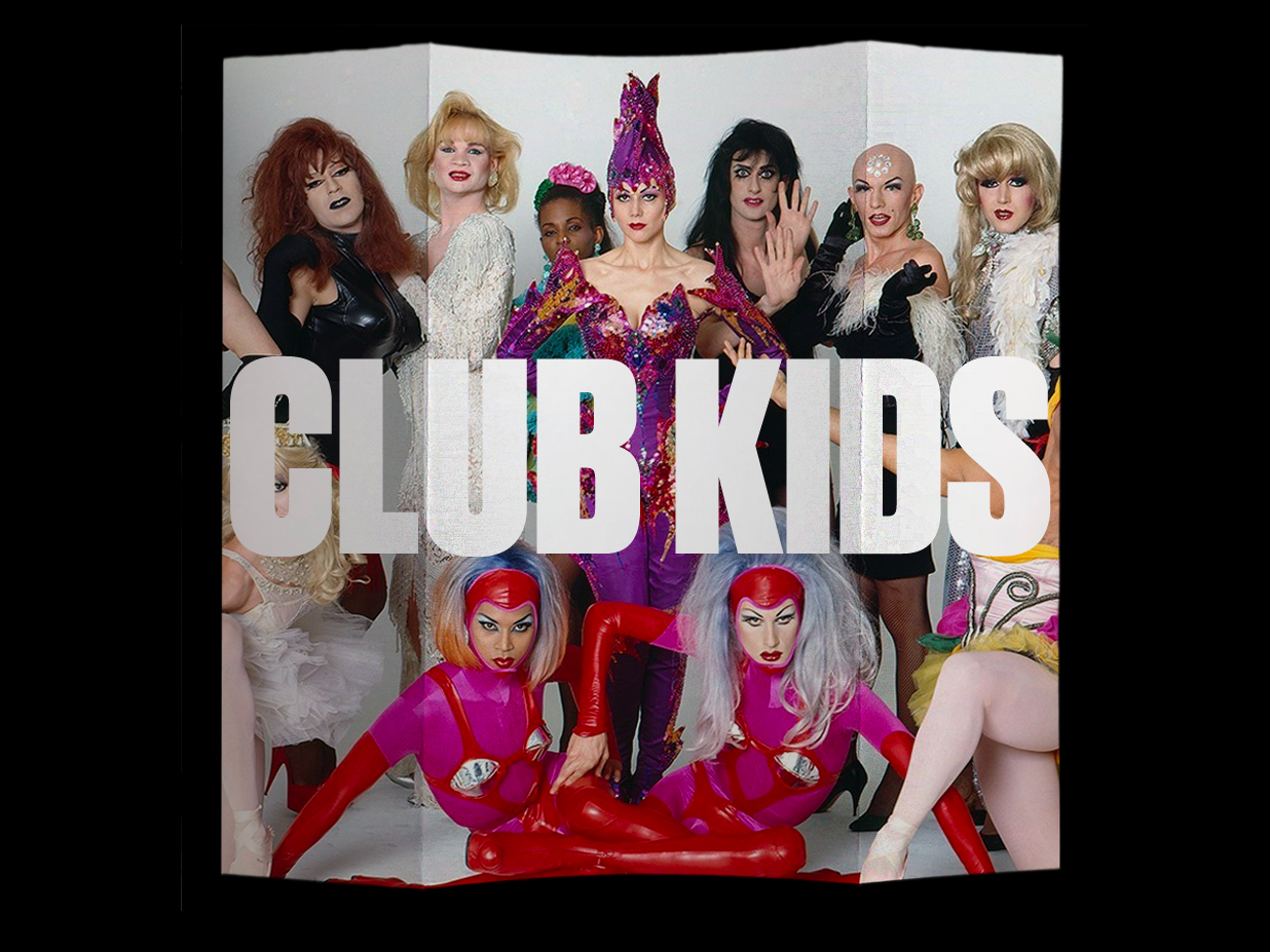 Club Kids: The Exhibit typography photography brochure print branding colorful