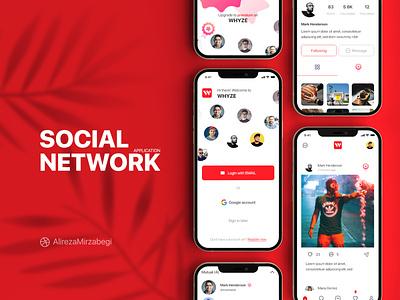 Design SOCIAL NETWORK Application logo graphic design 3d ui design application ux design