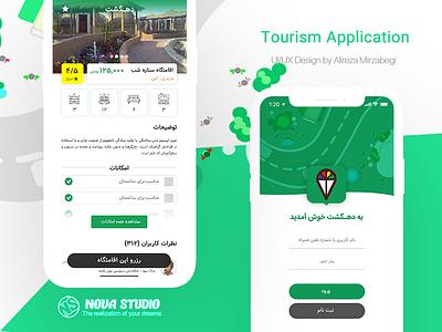 Tourism Interface/exp Application Design tourism.uiux exprience userinterface interface application app delivery tour uiux ux ui