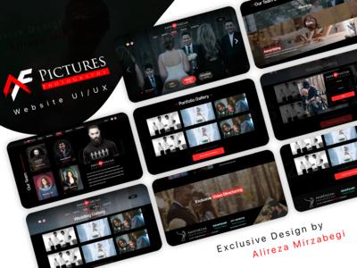 AmirFarzam Photography Web UI/UX Design