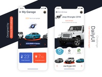 Car Interface (Garage) Daily Ui