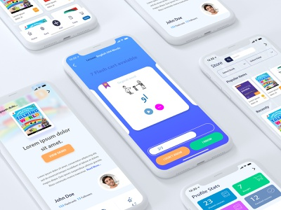 Redesign UI/UX MyMemory Application education app education memory flashcards flashcard flash illustration uiux vector ux design ui design daily ui exprience app design dribbble ui ux illustrations illustrator